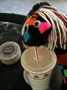 Sock Puppet Enjoys In & Out Burger