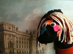 Penelope Sock Puppet Art Museum